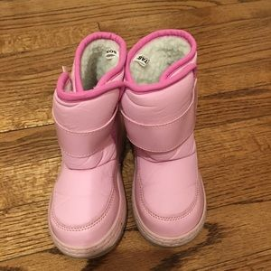 Circo pink velcro snow boots (size 10)